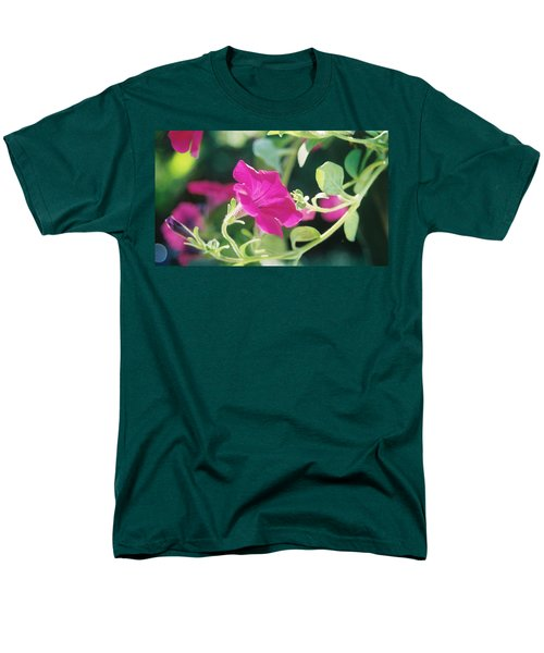 Men's T-Shirt  (Regular Fit) featuring the photograph Early Morning Petunias by Alan Lakin