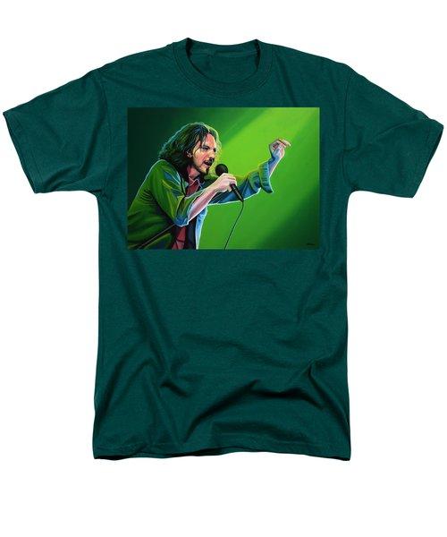 Eddie Vedder Of Pearl Jam Men's T-Shirt  (Regular Fit) by Paul Meijering