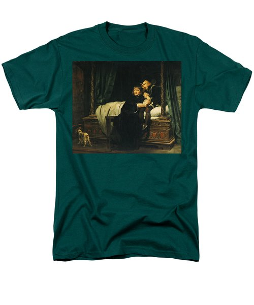 Edward V 1470-83 And Richard, Duke Of York In The Tower Les Enfants Dedouard 1830 Oil On Canvas See Men's T-Shirt  (Regular Fit) by Hippolyte Delaroche