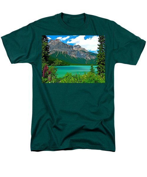 Emerald Lake In Yoho Np-bc Men's T-Shirt  (Regular Fit) by Ruth Hager