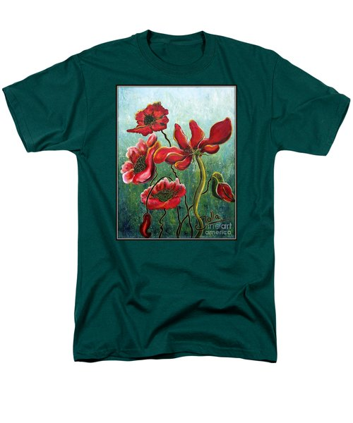Endless Poppy Love Men's T-Shirt  (Regular Fit) by Jolanta Anna Karolska