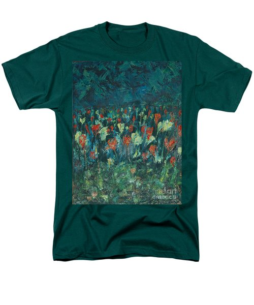 Men's T-Shirt  (Regular Fit) featuring the painting Evening Buds by Mini Arora