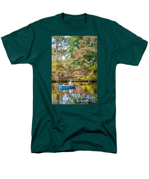 Men's T-Shirt  (Regular Fit) featuring the photograph Fishing Reflection by Debbie Green
