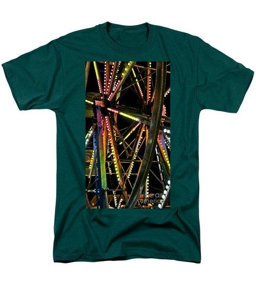 Men's T-Shirt  (Regular Fit) featuring the photograph Lit Ferris Wheel  by Lilliana Mendez