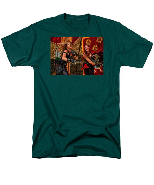 Men's T-Shirt  (Regular Fit) featuring the photograph Fight To The Finish by Mike Martin
