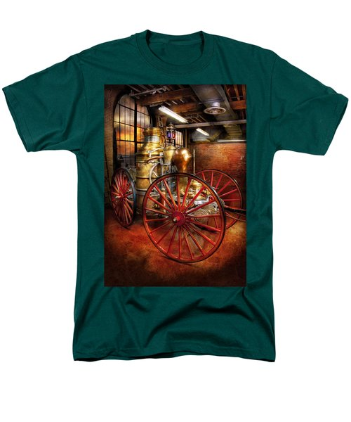 Fireman - One Day A Long Time Ago  Men's T-Shirt  (Regular Fit) by Mike Savad
