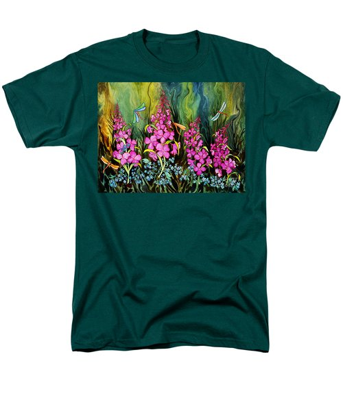 Fireweed And Dragonflies Men's T-Shirt  (Regular Fit) by Teresa Ascone