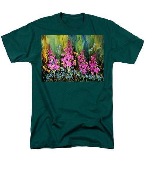 Fireweed And Dragonflies Men's T-Shirt  (Regular Fit)