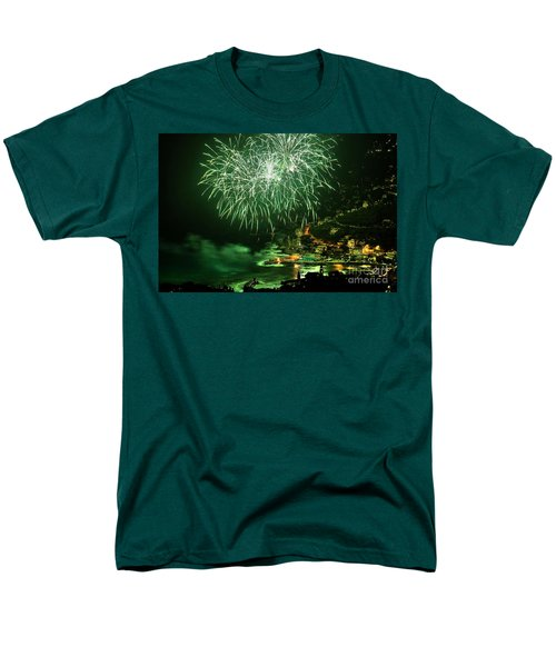 Men's T-Shirt  (Regular Fit) featuring the photograph Fireworks Hdr by Antonio Scarpi