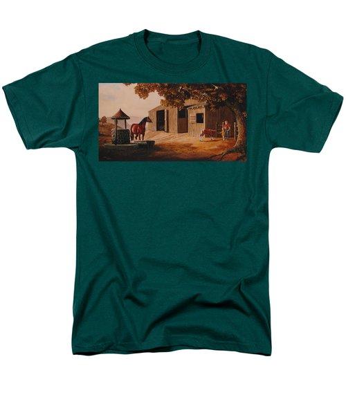 First Meeting Men's T-Shirt  (Regular Fit) by Duane R Probus