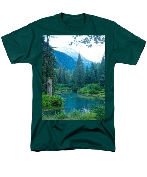 Fish Creek In Tongass National Forest By Hyder-ak  Men's T-Shirt  (Regular Fit) by Ruth Hager