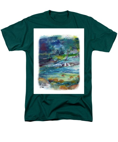 Fishin' Hole 2 Men's T-Shirt  (Regular Fit) by C Sitton