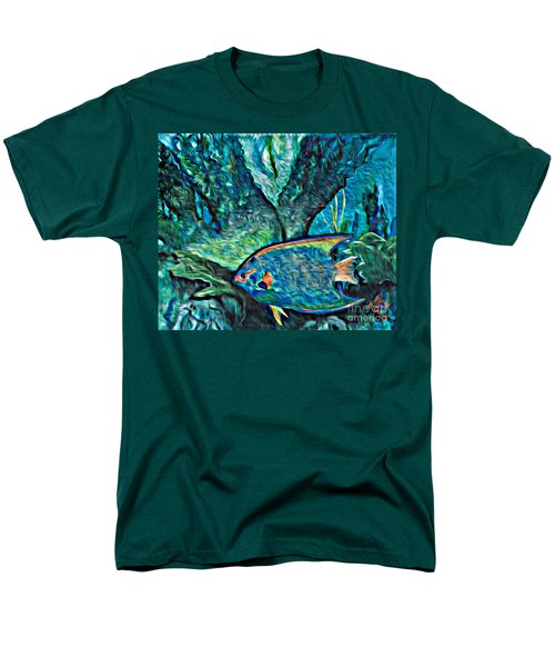 Men's T-Shirt  (Regular Fit) featuring the painting Fishscape by Ecinja Art Works