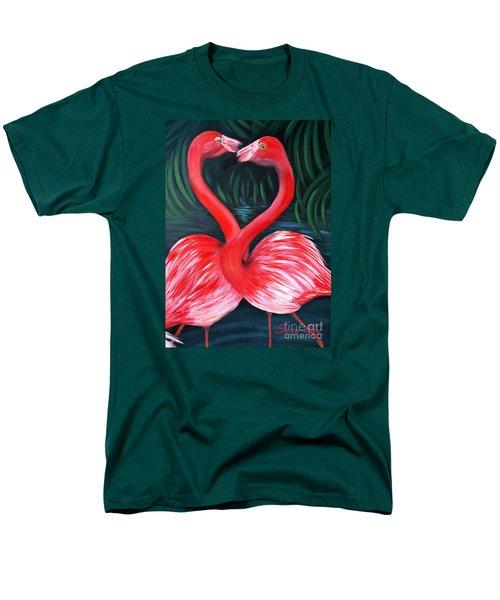 Flamingo Love Card Men's T-Shirt  (Regular Fit)