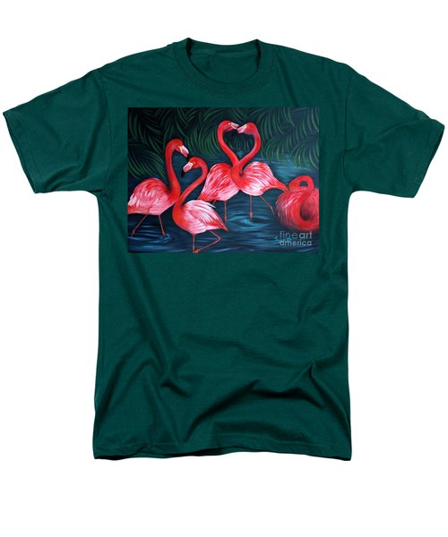 Flamingo Love. Inspirations Collection. Special Greeting Card Men's T-Shirt  (Regular Fit)