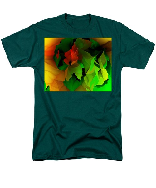 Men's T-Shirt  (Regular Fit) featuring the digital art Floral Abstraction 090814 by David Lane