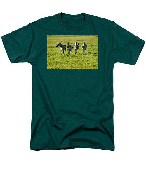 Four Zebras Men's T-Shirt  (Regular Fit) by Menachem Ganon