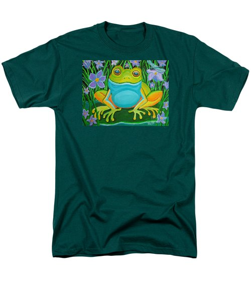 Frog On A Lily Pad Men's T-Shirt  (Regular Fit) by Nick Gustafson
