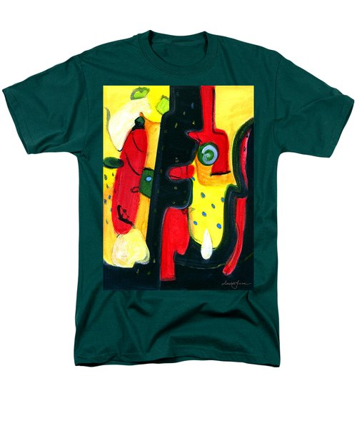 Men's T-Shirt  (Regular Fit) featuring the painting Fuego by Stephen Lucas
