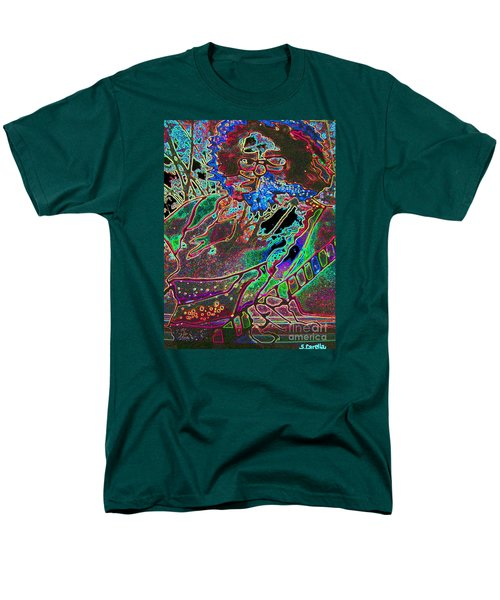 In And Out Of The Garden Stained Glass Men's T-Shirt  (Regular Fit) by Susan Carella