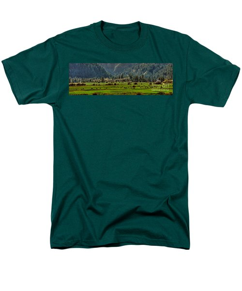 Men's T-Shirt  (Regular Fit) featuring the photograph Garden Valley Elk Herd by Sam Rosen