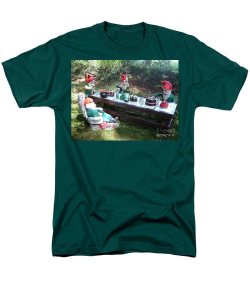 Gnome Cooking Men's T-Shirt  (Regular Fit) by Richard Brookes