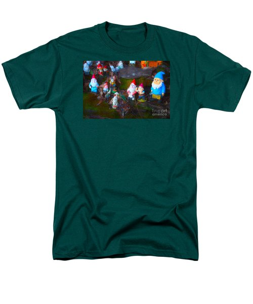 Men's T-Shirt  (Regular Fit) featuring the photograph Gnomes On The Range by Cassandra Buckley