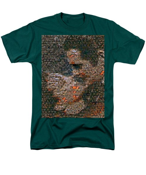 Gone With The Wind Scene Mosaic Men's T-Shirt  (Regular Fit) by Paul Van Scott