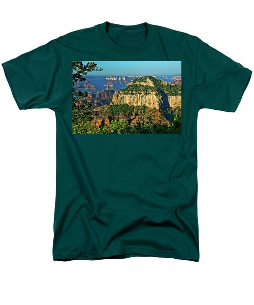 Men's T-Shirt  (Regular Fit) featuring the photograph Grand Canyon Peak Angel Point by Bob and Nadine Johnston