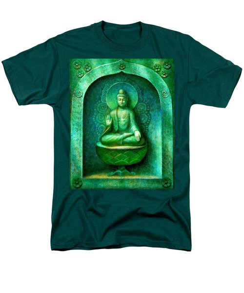 Green Buddha Men's T-Shirt  (Regular Fit) by Sue Halstenberg