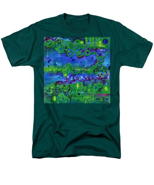 Green Functions Men's T-Shirt  (Regular Fit) by Regina Valluzzi