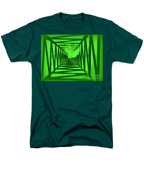 Men's T-Shirt  (Regular Fit) featuring the photograph Green Perspective by Clare Bevan