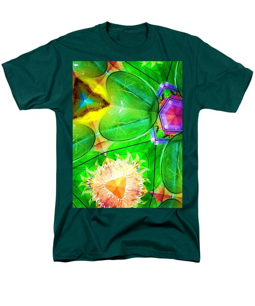 Green Thing 2 Abstract Men's T-Shirt  (Regular Fit) by Saundra Myles