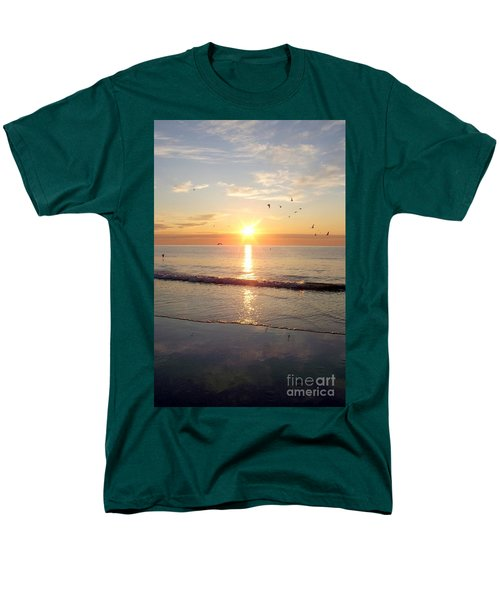 Gulls Dance In The Warmth Of The New Day Men's T-Shirt  (Regular Fit) by Eunice Miller