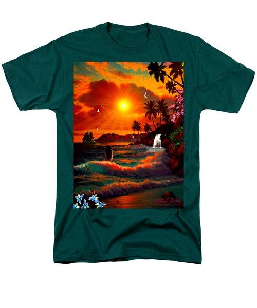 Hawaiian Islands Men's T-Shirt  (Regular Fit) by Michael Rucker