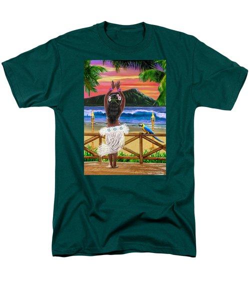 Hawaiian Sunset Hula Men's T-Shirt  (Regular Fit) by Glenn Holbrook