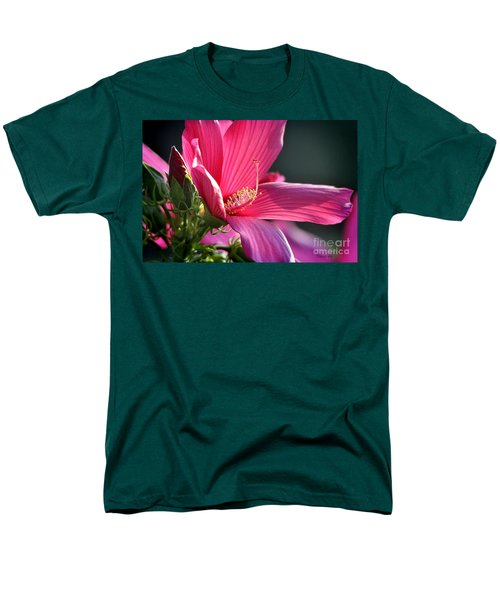 Men's T-Shirt  (Regular Fit) featuring the photograph Hibiscus Morning Bright by Nava Thompson