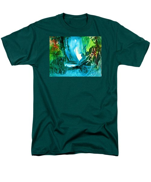 Men's T-Shirt  (Regular Fit) featuring the painting Hidden In The Stream by Allison Ashton