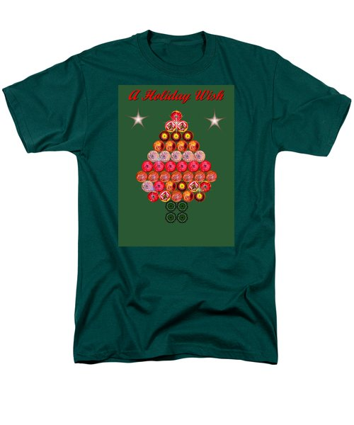 Holiday Tree Of Orbs 2 Men's T-Shirt  (Regular Fit) by Nick Kloepping