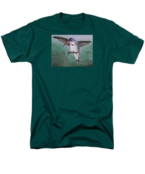 Men's T-Shirt  (Regular Fit) featuring the drawing Hummingbird by Kume Bryant