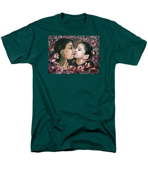 Men's T-Shirt  (Regular Fit) featuring the painting I Love You Mom by Harsh Malik