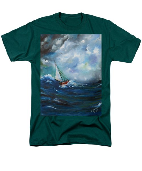Men's T-Shirt  (Regular Fit) featuring the painting In The Storm by Dorothy Maier