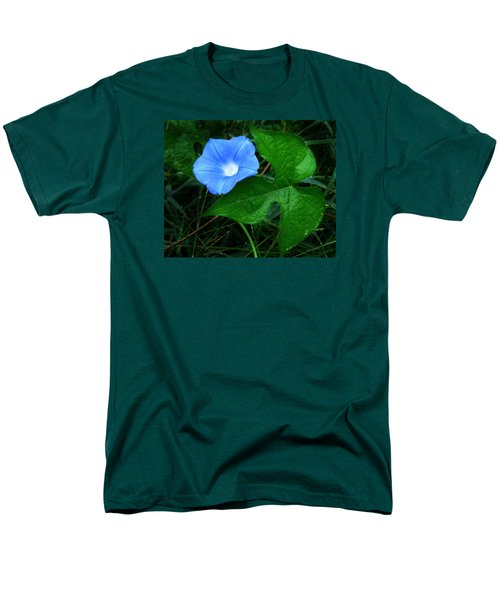 Men's T-Shirt  (Regular Fit) featuring the photograph Wild Ivyleaf Morning Glory by William Tanneberger