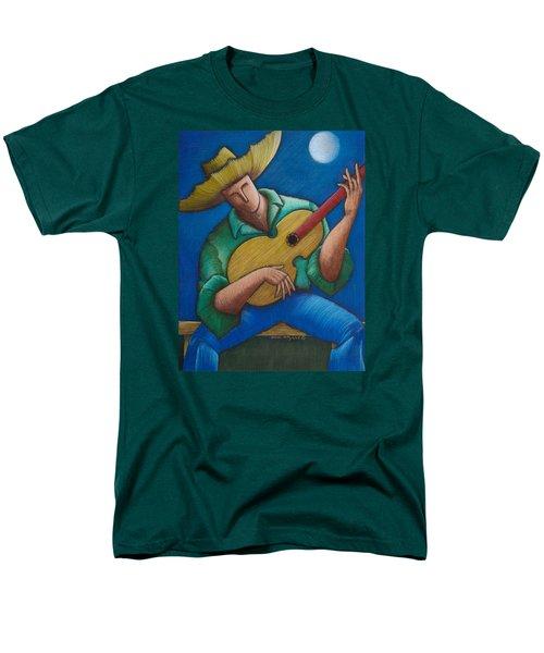 Jibaro Bajo La Luna Men's T-Shirt  (Regular Fit) by Oscar Ortiz