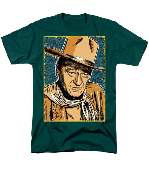 John Wayne Pop Art Men's T-Shirt  (Regular Fit) by Jim Zahniser
