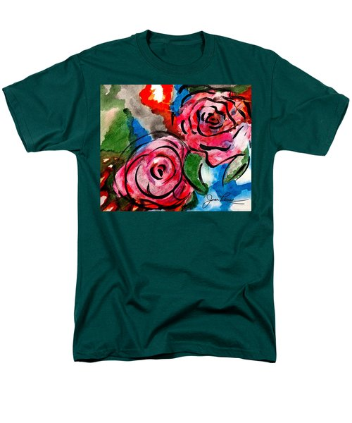 Juicy Red Roses Men's T-Shirt  (Regular Fit) by Joan Reese
