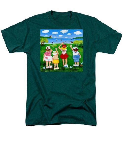 Ladies League Door County Men's T-Shirt  (Regular Fit) by Pat Olson