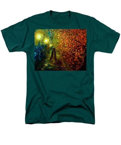 Men's T-Shirt  (Regular Fit) featuring the painting Lady Autumn by Lilia D