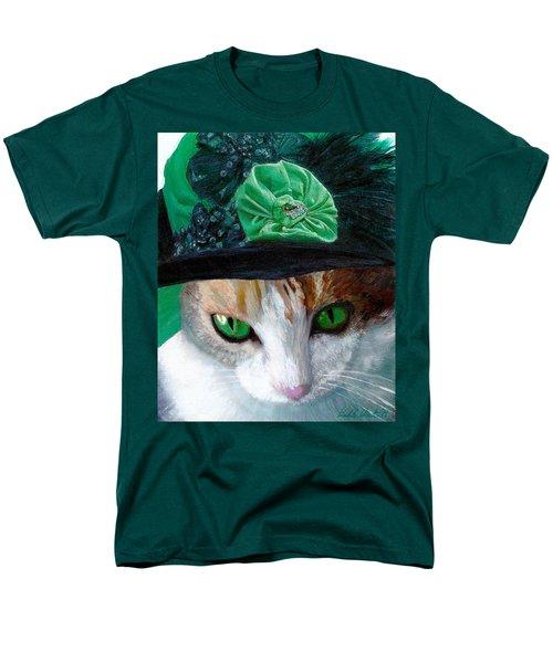 Lady Little Girl Cats In Hats Men's T-Shirt  (Regular Fit) by Michele Avanti