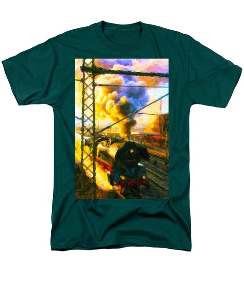 Leaving The Station Men's T-Shirt  (Regular Fit) by Chuck Mountain